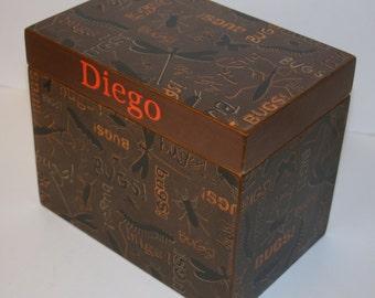 Recipe Box, 4x6 Recipe Box, 4 x 6 Custom Box, You Design It, Handmade Personalized Wooden Recipe Card Box, Keepsake Box