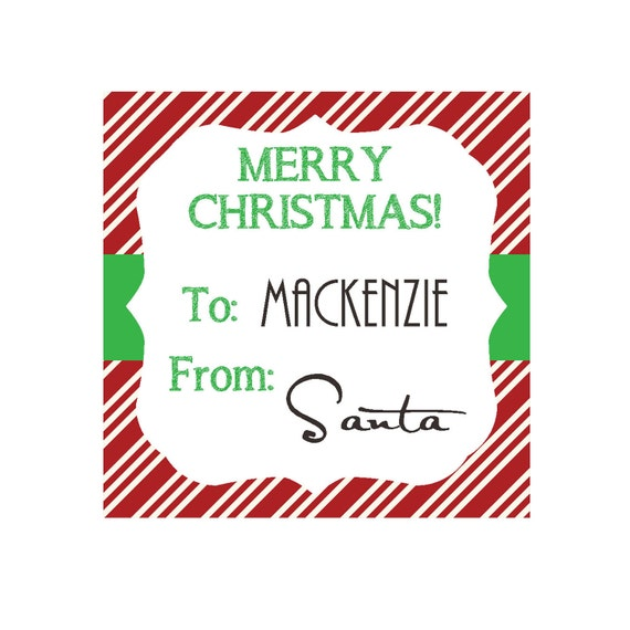 Personalized Christmas Gift Tags: PERSONALIZED Christmas Gift Tags Or Favor By OliviaKateDesigns