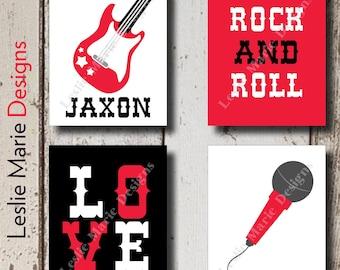 Rock n Roll Baby | Rock n Roll Decor | Rock n Roll Nursery | Rock and Roll Decor | Rock and Roll Art | Rock and Roll Baby | Baby Boy Nursery