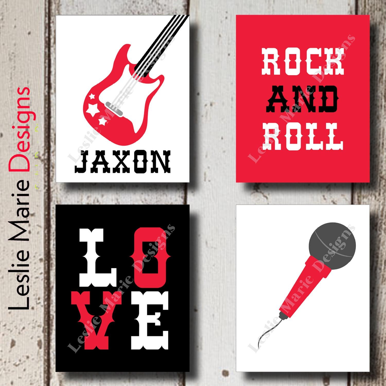 Rock n roll baby rock n roll decor rock n roll nursery for Rock n roll baby crib set