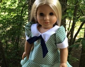 RESERVED American Made 18 Inch Girl Doll Clothing-Spring Dress 1970's Fashion OOAK