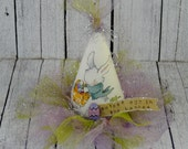 Cutest egg Easter fascinator HAT party - bunny banner wool adult woman fun fabric banner mini head piece barrette