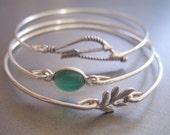 KATNISS' FOREST inspired set of 3 bangle bracelets