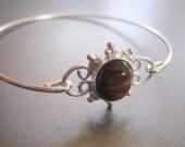 TIGER EYE SUN gemstone bangle bracelet
