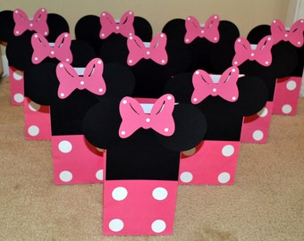 Minnie Mouse Goody Bags, Minnie Mouse Treat Bags