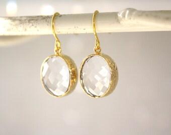 Gold Earrings, Drop Earrings, Dangle earrings, Bridesmaid gifts, Bridesmaid Earrings, Birthday Gift, Gifts for Her, Best Friend Gift