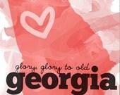 glory, glory to old georgia -- digital art print