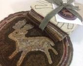 Rug Hooking Kit, Woodland Deer Chair Pad or Table Mat , J756