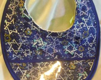 Baby or Toddler Bib Stars on Blue #173