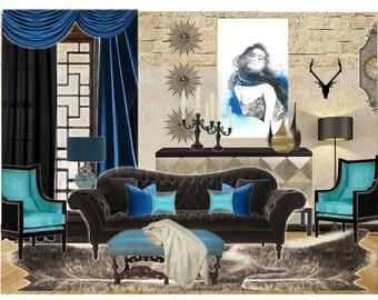 Living Room Decor Interior Design Home Decor Edesign Interior Decorating Turquoise