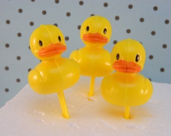 Rubber Ducky Picks / Duck / Baby Shower / Theme / Cupcake Toppers / Picks / Duck / Yellow Ducky