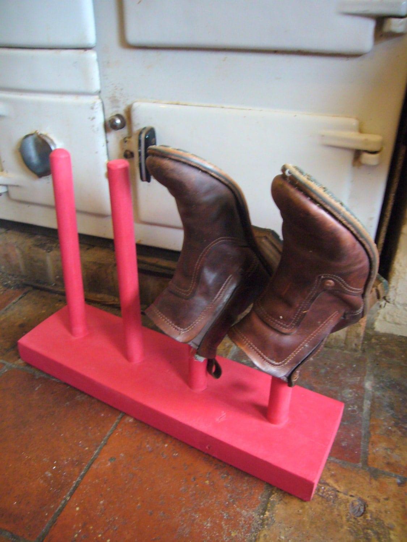 pink boot rack shoe storage welly boots holder shoe by jurocks. Black Bedroom Furniture Sets. Home Design Ideas