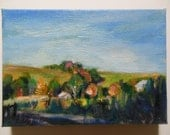 Amish House, Original Oil Painting