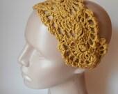 HairBand- Crochet Headband- Hair Fashion Accessories - Crochet HairBand in Mustard