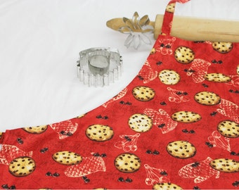 Cookies on Red Adult Apron