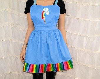 Inspired By My Little Pony Rainbow Dash Cosplay Kitchen Apron MTCoffinz - Ready to Ship