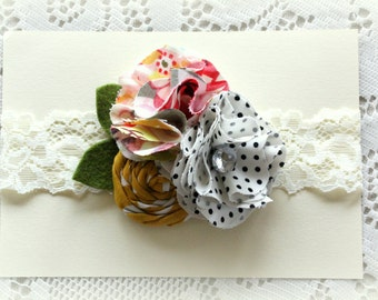 Baby Girl Flower Headband - Vintage Style Headband