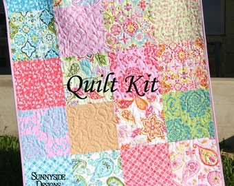 Baby Quilt Kit, Splendor by Lila Tueller for Riley Blake Fabrics, Blanket DIY, Do It Yourself, Modern Designer Fabrics, Patchwork