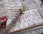 5 Pages from an Early Century Japanese Handwritten Ledger Book Mulberry Paper