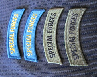 Military U S Army Patch Special Forces - Blue or Green