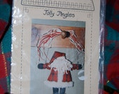 "Christmas ""Jolly Jingles"" 7 Inch Santa Pattern by Christine Rieke of Homebodies from the Up in Arm Series  #403"