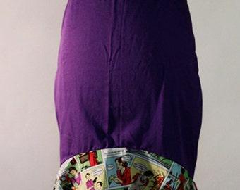 Woven Pencil Skirt with flounce