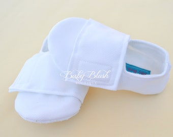 White  Baby Boy Soft Soled Baby Shoes - Infant Shoes