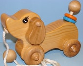Wooden Puppy Dog - PULL TOY