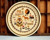 Vintage Mikasa International Plate Country Store Pattern Dishwasher and Microwave Safe