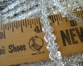 "Silver Metallic Scalloped 5/16"" Trim Vintage choose yards shiny ric rac sewing crafts cool yardage retro"