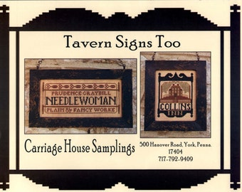 Carriage House Samplings: Tavern Signs Too - Cross Stitch Pattern