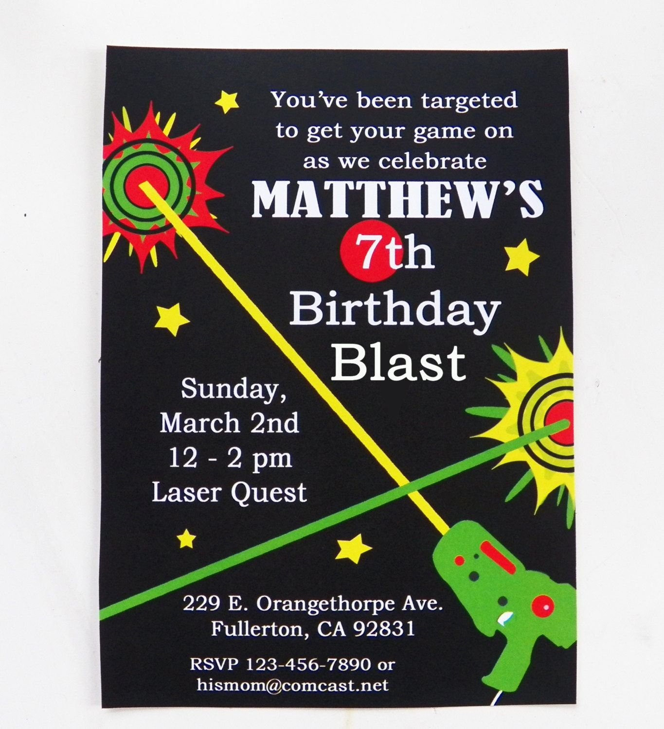 Laser Tag Party Invitations Free was great invitations design