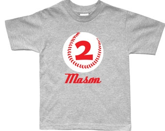 Personalized baseball birthday shirt - any age and name - you pick the colors!