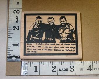 Rubber Stamp - Stampington - Military Guys