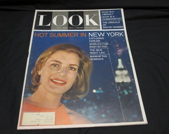 Look Magazine July 1964, New York, Harlem, Robert Wagner, Budweiser Beer ads, vintage advertising