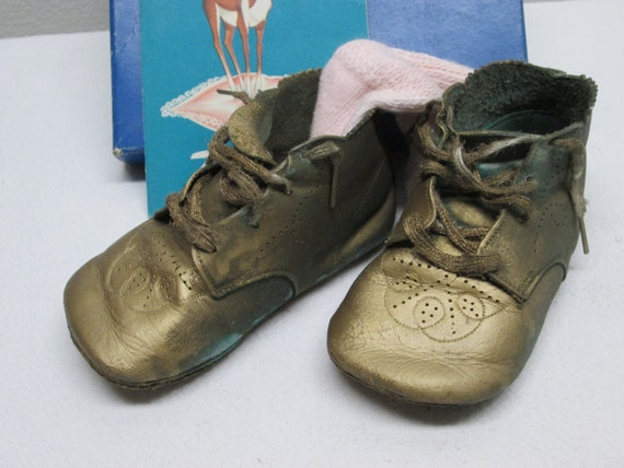 vintage leather baby shoes supplies props by heyjunkman on