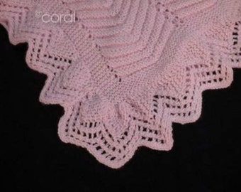 Baby Large Afghan Knitting Pattern Reversible PDF Pattern Is not a finished product It is a PDF Pattern with instructions to do it yourself