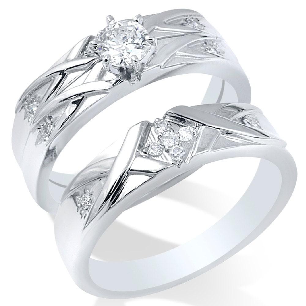 engagement ring matching wedding band bridal mens
