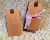 Aged Tags Small Bulk 100   Measures 1 7/8 by 3 3/4 inch