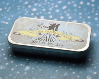 Solid Perfume - Virgo - Astrological Perfume Tin - Jasmine, Satsuma, Lily of the Valley, Garden Mint, Oak Moss