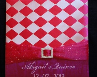 Wedding Photo Album, Personalized Photo Album, Quinceañera, Sweet 16 Photo Album, Swarovski Crystals, 300 4x6 Photos - Custom Made to Order