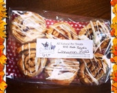 Pumpkin Cinnamon Roll Dog Treats - Drizzled with Icing - 6 count -