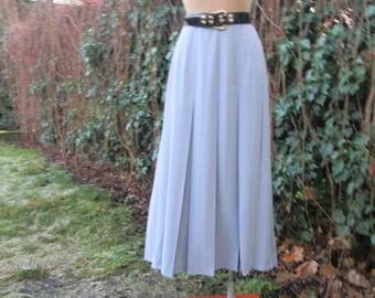 Long Pleated Skirt Vintage / Maxi / Pale Violet / EUR42 / 44 x UK14 / 16 / Side Slits