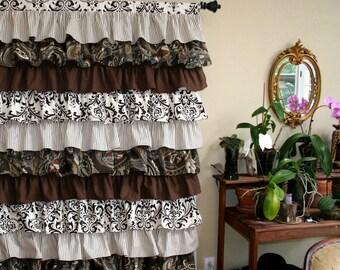 Custom Ruffled Curtain - Layered Style Starting at: