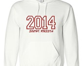 2014 Winter Olympics  Embroidered Hooded Sweatshirt - Embroiderybranche