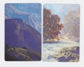 Maxfield Parrish Playing Cards In The Moutains And Misty Morning