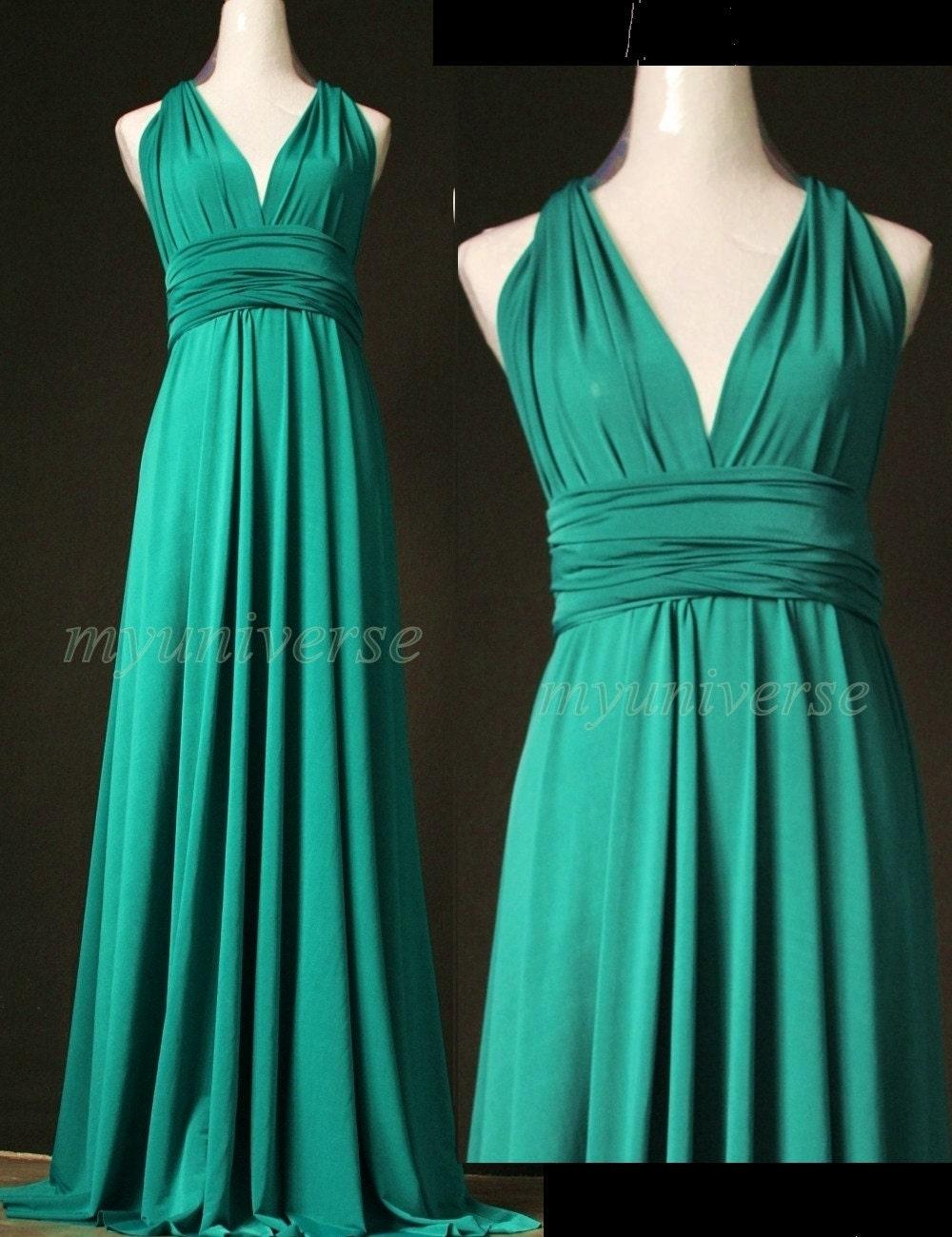 Jade green bridesmaid dress wedding dress infinity by for Jade green wedding dresses