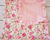 baby minky, baby blanket, newborn baby blanket, Custom baby blanket, soft baby blanket, baby shower girls gift, minky, baby girl blanket