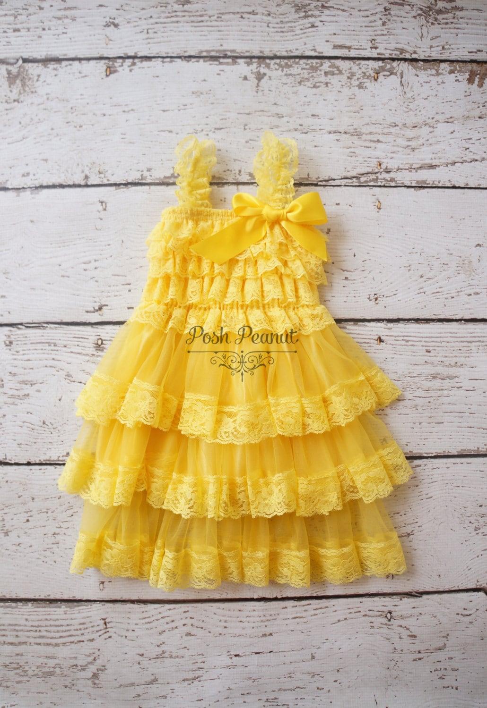 Flower girl dresses yellow flower girl dress by PoshPeanutKids