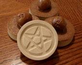 Oak Leaf Brown - Stoneware Cookie Stampers - Pentacle